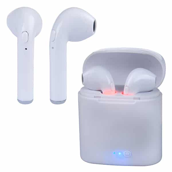 אוזניות סטריאו Bluetooth אלחוטיות EarBuds IN-EAR i12-mini עם בית טעינה