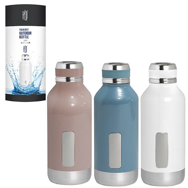 """בקבוק תרמוס נירוסטה חם/קר 500 מ""""ל בעיצוב ייחודי"""