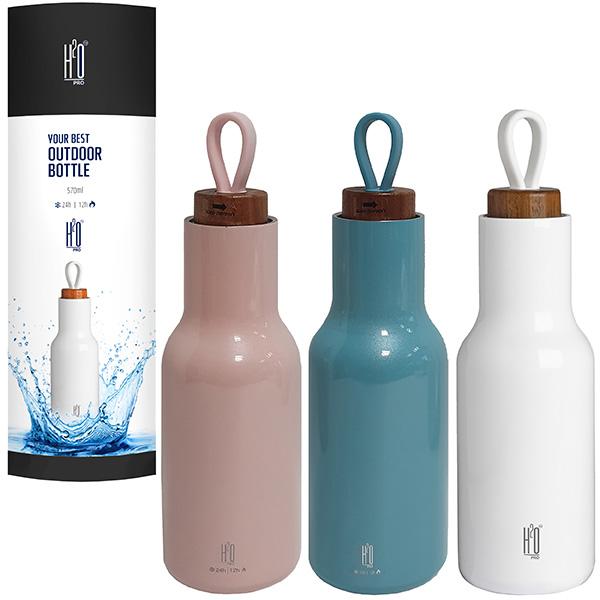 """בקבוק תרמוס נירוסטה חם/קר 570 מ""""ל בעיצוב חדשני"""