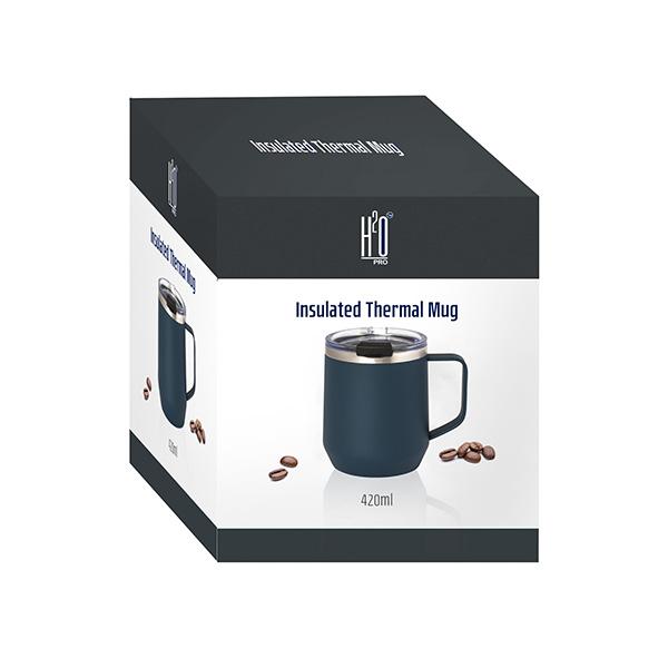 כוס טרמית מנירוסטה עם ידית - חם/קר