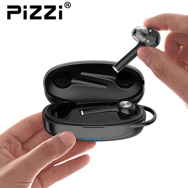 פיצי PiZZi זוג אוזניות מיני Bluetooth Hybrid in-Ear Headphones איכותיות עם בית טעינה
